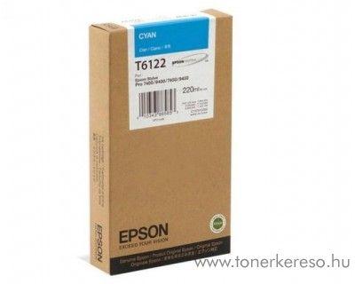 Epson T6122 eredeti cyan tintapatron C13T612200 Epson Stylus Pro 7450 tintasugaras nyomtatóhoz