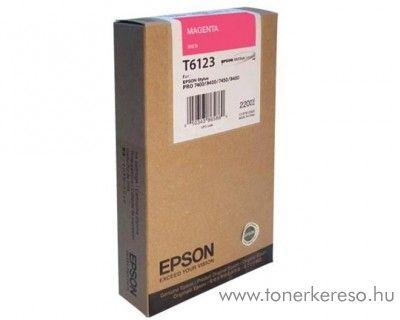 Epson T6123 eredeti magenta tintapatron C13T612300 Epson Stylus Pro 7450 tintasugaras nyomtatóhoz