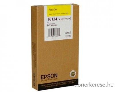 Epson T6124 eredeti yellow tintapatron C13T612400 Epson Stylus Pro 7400 tintasugaras nyomtatóhoz