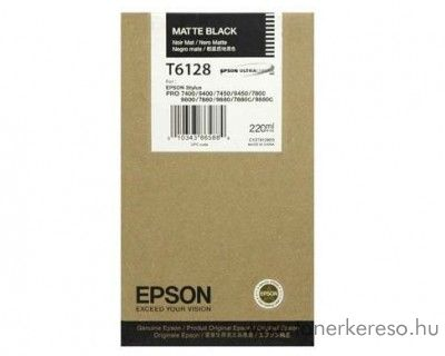 Epson T6128 eredeti matt fekete black tintapatron C13T612800 Epson Stylus Pro 7800 Xrite Eye One Pro Epson Edition tintasugaras nyomtatóhoz