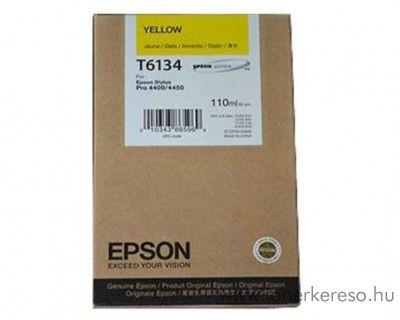 Epson T6134 eredeti yellow tintapatron C13T613400  Epson Stylus Pro 4400 Photo Black Edition tintasugaras nyomtatóhoz