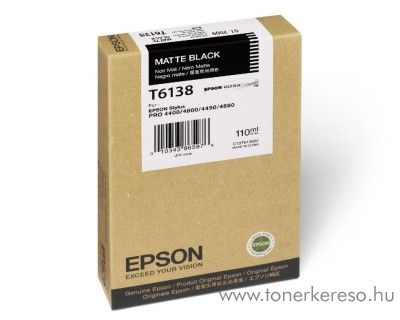 Epson T6138 eredeti matt fekete black tintapatron C13T613800