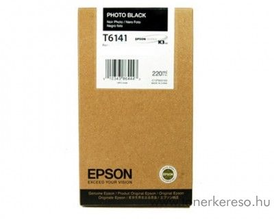 Epson T6141 eredeti photo fekete black tintapatron C13T614100  Epson Stylus Pro 4400 Photo Black Edition tintasugaras nyomtatóhoz