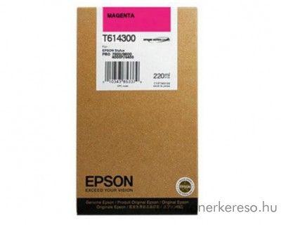 Epson T6143 eredeti magenta tintapatron C13T614300  Epson Stylus Pro 4400 Photo Black Edition tintasugaras nyomtatóhoz