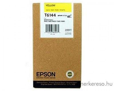 Epson T6144 eredeti yellow tintapatron C13T614400  Epson Stylus Pro 4400 Photo Black Edition tintasugaras nyomtatóhoz