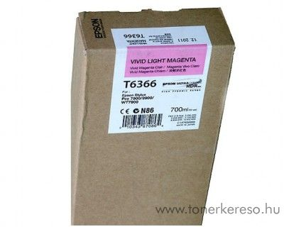 Epson T6363 eredeti photo magenta tintapatron C13T636300 Epson Stylus Pro 7900 Spectro Proofer UV tintasugaras nyomtatóhoz