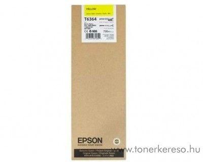 Epson T6364 eredeti yellow tintapatron C13T636400 Epson Stylus Pro 9890 SpectroProofer tintasugaras nyomtatóhoz