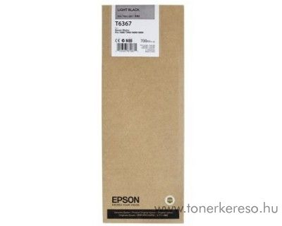Epson T6367 eredeti light black tintapatron C13T636700 Epson Stylus Pro 9890 SpectroProofer tintasugaras nyomtatóhoz
