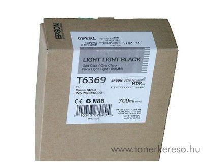 Epson T6369 eredeti light light black tintapatron C13T636900