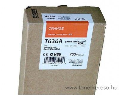 Epson T636A eredeti orange tintapatron C13T636A00 Epson Stylus Pro 7900 Spectro Proofer UV tintasugaras nyomtatóhoz