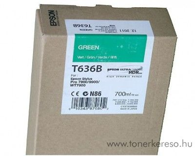 Epson T636B eredeti green tintapatron C13T636B00 Epson Stylus Pro 7900 Spectro Proofer tintasugaras nyomtatóhoz