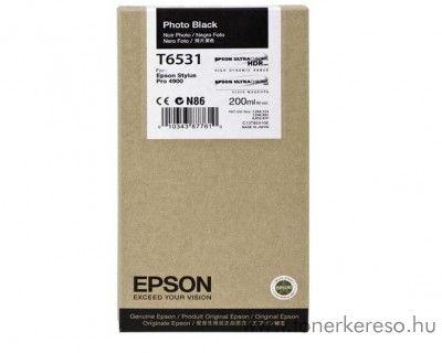 Epson T6531 eredeti photo fekete black tintapatron C13T653100 Epson Stylus Pro 4900 tintasugaras nyomtatóhoz