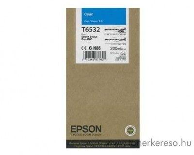 Epson T6532 eredeti cyan tintapatron C13T653200 Epson Stylus Pro 4900 SpectroProofer tintasugaras nyomtatóhoz