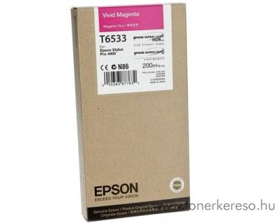 Epson T6533 eredeti photo magenta tintapatron C13T653300 Epson Stylus Pro 4900 tintasugaras nyomtatóhoz