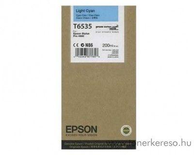 Epson T6535 eredeti light cyan tintapatron C13T653500 Epson Stylus Pro 4900 SpectroProofer tintasugaras nyomtatóhoz