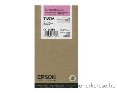 Epson T6536 eredeti photo light magenta tintapatron C13T653600 Epson Stylus Pro 4900 Designer Edition tintasugaras nyomtatóhoz