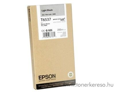 Epson T6537 eredeti light black tintapatron C13T653700