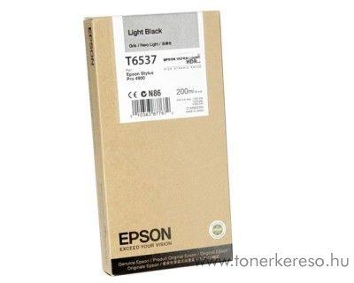 Epson T6537 eredeti light black tintapatron C13T653700 Epson Stylus Pro 4900 SpectroProofer tintasugaras nyomtatóhoz