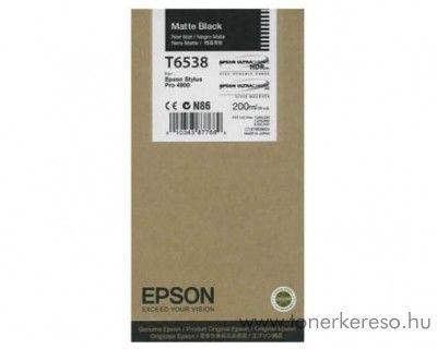 Epson T6538 eredeti matt fekete black tintapatron C13T653800 Epson Stylus Pro 4900 SpectroProofer tintasugaras nyomtatóhoz