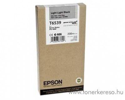 Epson T6539 eredeti light light black tintapatron C13T653900 Epson Stylus Pro 4900 tintasugaras nyomtatóhoz