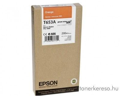 Epson T653A eredeti orange tintapatron C13T653A00 Epson Stylus Pro 4900 tintasugaras nyomtatóhoz
