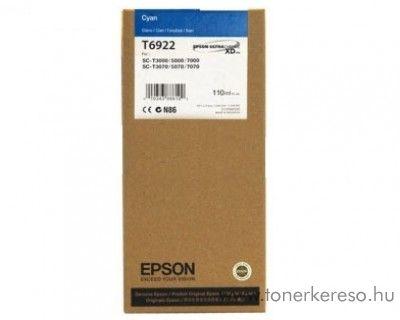 Epson T6922 eredeti cyan tintapatron C13T692200 Epson SureColor SC-T7000 tintasugaras nyomtatóhoz