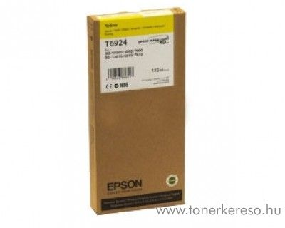 Epson T6924 eredeti yellow tintapatron C13T692400 Epson SureColor SC-T7000 tintasugaras nyomtatóhoz