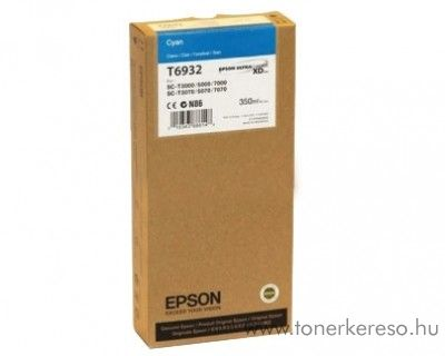 Epson T6932 eredeti cyan tintapatron C13T693200 Epson SureColor SC-T7000 tintasugaras nyomtatóhoz