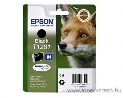 Epson Tintapatron T1281 fekete SX125/SX130/SX425 Epson Stylus Office BX306FW tintasugaras nyomtatóhoz