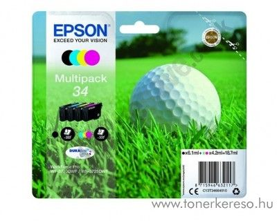 Epson WF-3720DWF eredeti BKCMY multipack csomag T34664010