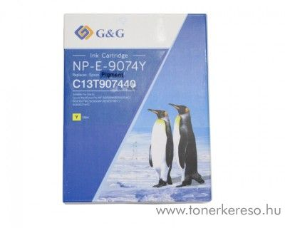 Epson WF-6090 (T9074) utángyártott yellow tintapatron GGET9074 WorkForce Pro WF-6090D2TWC tintasugaras nyomtatóhoz