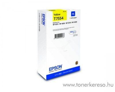 Epson WF-8010DW (T7554) eredeti yellow tintapatron C13T755440 Epson WorkForce Pro WF-8090DW tintasugaras nyomtatóhoz