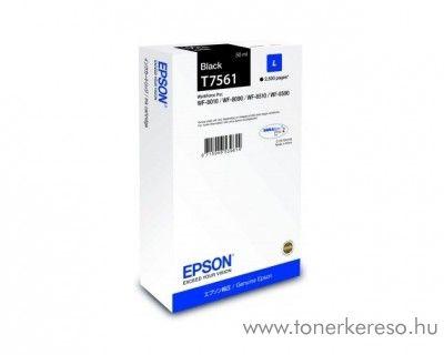 Epson WF-8010DW (T7561) eredeti black tintapatron C13T756140 Epson WorkForce Pro WF-8090DW tintasugaras nyomtatóhoz