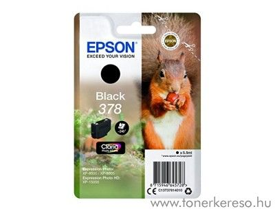 Epson XP-15000/XP-8500 eredeti black tintapatron T37814010 Epson Expression Photo HD XP-15000 tintasugaras nyomtatóhoz