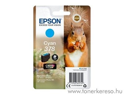 Epson XP-15000/XP-8500 eredeti cyan tintapatron T37824010 Epson Expression Photo XP-8500 tintasugaras nyomtatóhoz