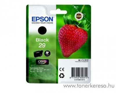 Epson XP-235/335 (29) eredeti black tintapatron T29814010 Epson Expression Home XP-342 tintasugaras nyomtatóhoz