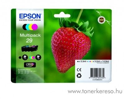 Epson XP-235/335 (29) eredeti CMYBK multipack T29864010 Epson Expression Home XP-247 tintasugaras nyomtatóhoz