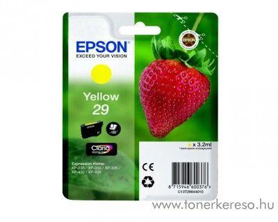 Epson XP-235/335 (29) eredeti yellow tintapatron T29844010 Epson Expression Home XP-235 tintasugaras nyomtatóhoz