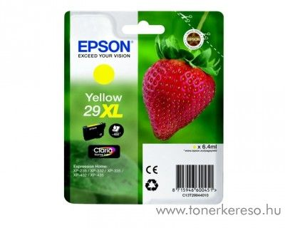 Epson XP-235/335 (29XL) eredeti yellow tintapatron T29944010