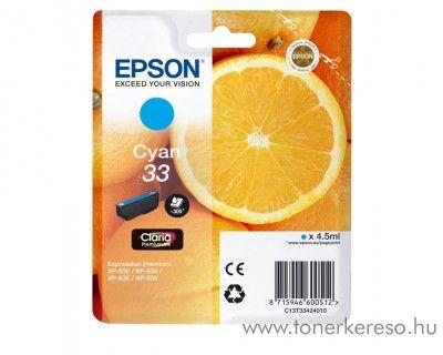 Epson XP-530 eredeti cyan tintapatron C13T33424010 Epson Expression Premium XP-635 tintasugaras nyomtatóhoz