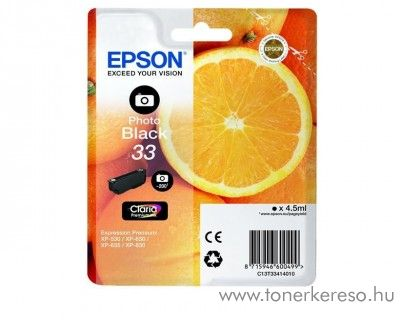 Epson XP-530 eredeti photo black tintapatron C13T33414010