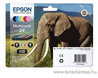 Epson XP-55/750 eredeti multipack C13T24284011 Epson Expression Photo XP-860 tintasugaras nyomtatóhoz