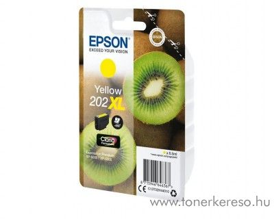 Epson XP-6000/XP-6005 eredeti yellow tintapatron T02H44010 Epson Expression Premium XP-6005 tintasugaras nyomtatóhoz