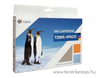 G&G Epson XP-235 utángyártott tintapatron csomag GGET299XMP4 Epson Expression Home XP-445 tintasugaras nyomtatóhoz
