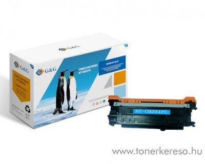 G&G HP Color LaserJet CM3530 utángyártott cyan toner GGHCE251A HP Color LaserJet CM3530 lézernyomtatóhoz