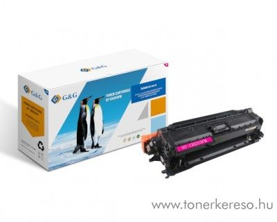 G&G HP LaserJet CM3530 utángyártott magenta toner GGHCE253A