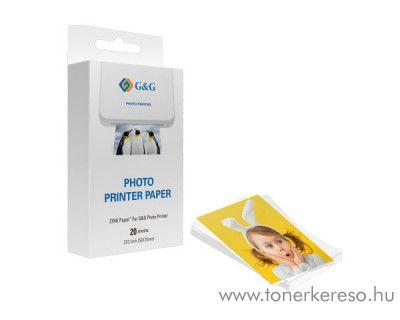 G&G ZINK 20 öntapadó fotópapír (76x50 mm)