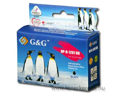 Epson T1281 fekete kompatibilis/utángyártott tintapatron G&G GGT Epson Stylus SX125 tintasugaras nyomtatóhoz