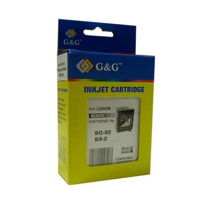 Canon BC-02 fekete tintapatron G&G GGBC02 Canon MultiPass 1000 tintasugaras nyomtatóhoz