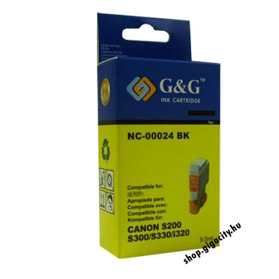 Canon BCI-24B (S200/300/i250/350/stb.) fekete tintapatron GGC24B Canon i350 tintasugaras nyomtatóhoz